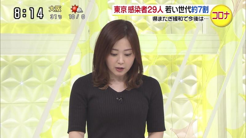 【水卜麻美キャプ画像】日テレ人気女子アナのニット越しオッパイと疑似フェラ! 18