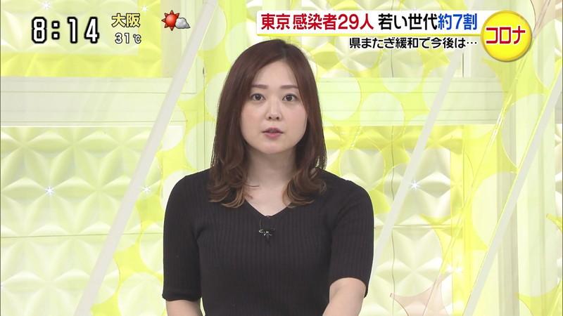 【水卜麻美キャプ画像】日テレ人気女子アナのニット越しオッパイと疑似フェラ! 19