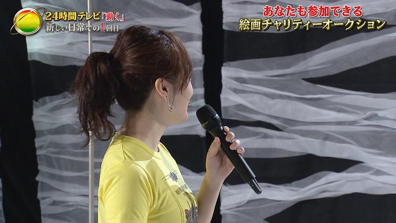 【水卜麻美キャプ画像】日テレ人気女子アナのニット越しオッパイと疑似フェラ! 48