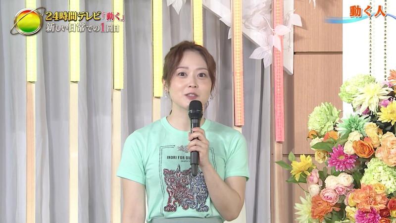 【水卜麻美キャプ画像】日テレ人気女子アナのニット越しオッパイと疑似フェラ! 50