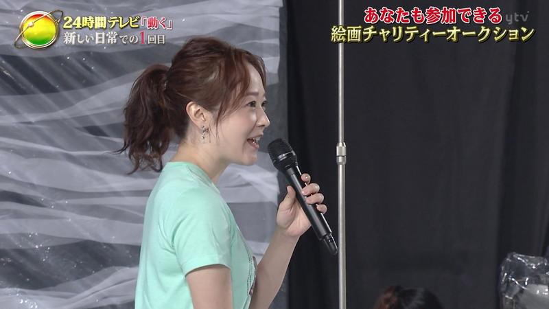 【水卜麻美キャプ画像】日テレ人気女子アナのニット越しオッパイと疑似フェラ! 52
