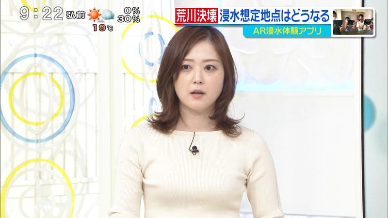 【水卜麻美キャプ画像】日テレ人気女子アナのニット越しオッパイと疑似フェラ! 74