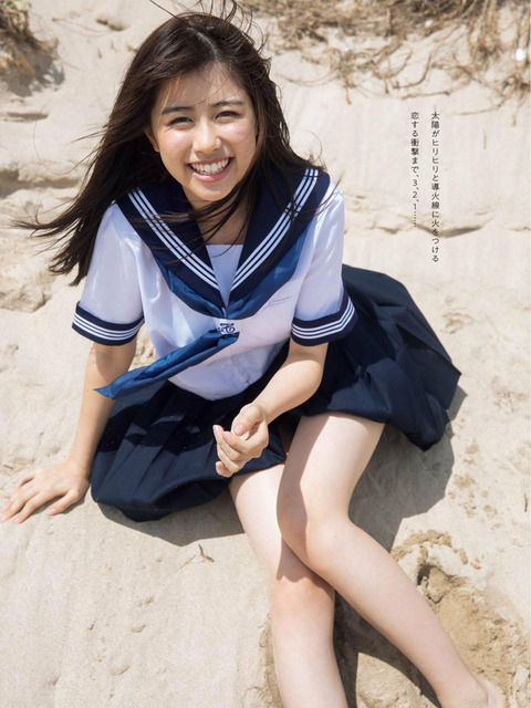 【萩田帆風エロ画像】女子高生ミスコン準グランプリの笑顔が可愛い女の子 25