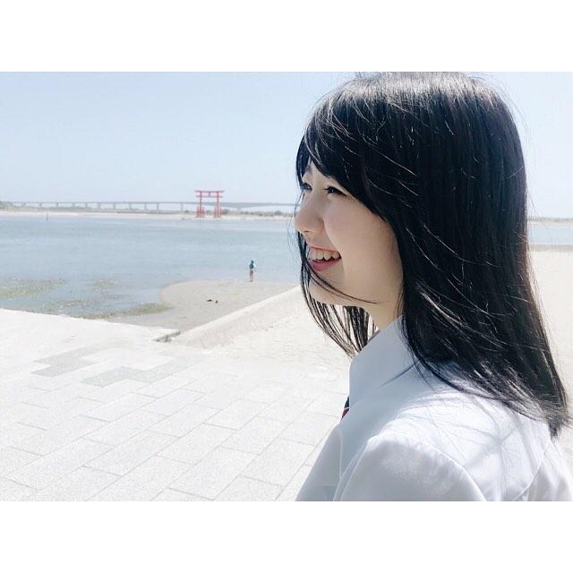 【萩田帆風エロ画像】女子高生ミスコン準グランプリの笑顔が可愛い女の子 42