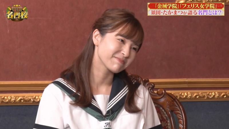 【角谷暁子キャプ画像】テレビ東京の女子アナがセーラー服コスプレしてるwwww 09