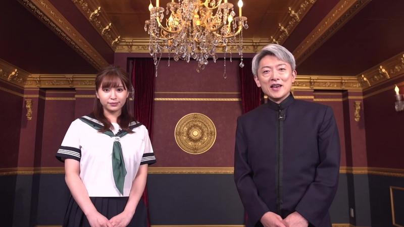 【角谷暁子キャプ画像】テレビ東京の女子アナがセーラー服コスプレしてるwwww 10