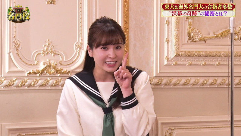 【角谷暁子キャプ画像】テレビ東京の女子アナがセーラー服コスプレしてるwwww 24