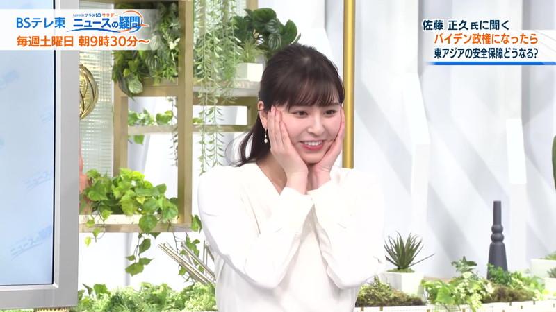 【角谷暁子キャプ画像】テレビ東京の女子アナがセーラー服コスプレしてるwwww 55