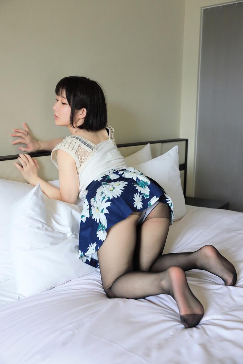 【雨宮留菜キャプ画像】ちっちゃいボディにJカップバストの抜けるグラドル! 73