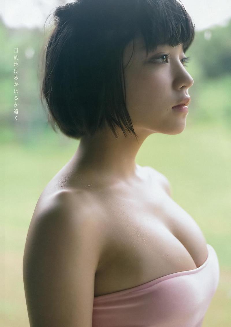 【根本凪グラビア画像】ボブヘアが可愛いGカップ美少女アイドルのビキニエロ画像 13