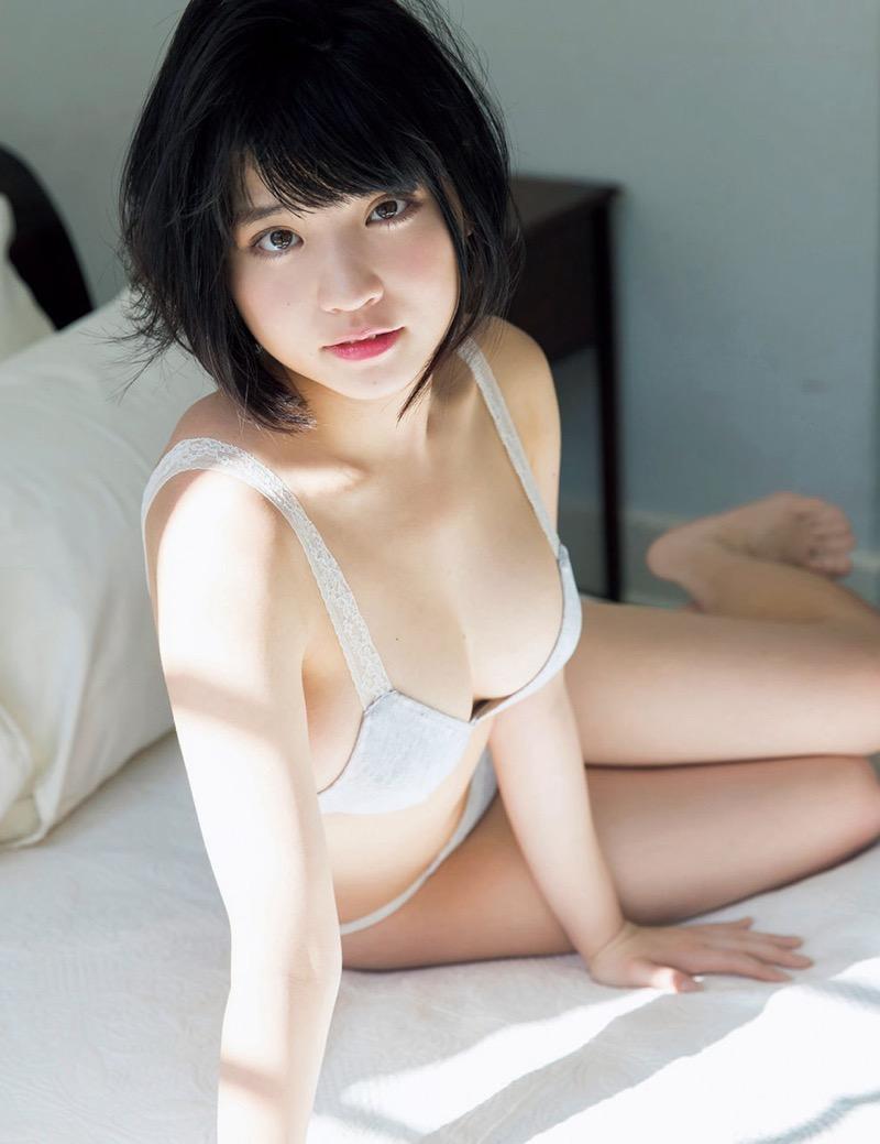 【根本凪グラビア画像】ボブヘアが可愛いGカップ美少女アイドルのビキニエロ画像 35
