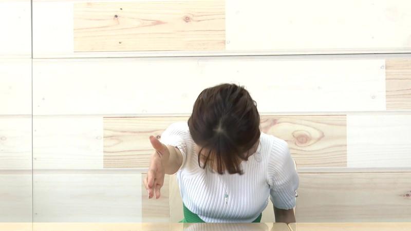 【大家彩香キャプ画像】ニット越し着衣オッパイがエロい女子アナウンサー 11