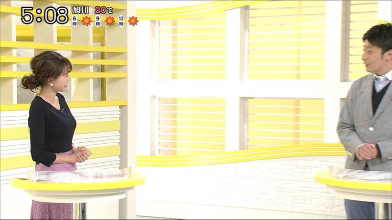 【大家彩香キャプ画像】ニット越し着衣オッパイがエロい女子アナウンサー 25