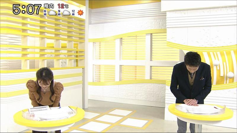 【大家彩香キャプ画像】ニット越し着衣オッパイがエロい女子アナウンサー 31