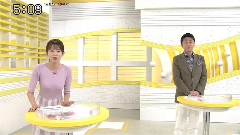 【大家彩香キャプ画像】ニット越し着衣オッパイがエロい女子アナウンサー 57