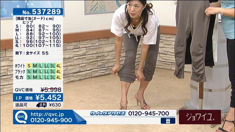 【キャプエロ画像】通販専門チャンネルでまさかの胸チラ発見!? 56