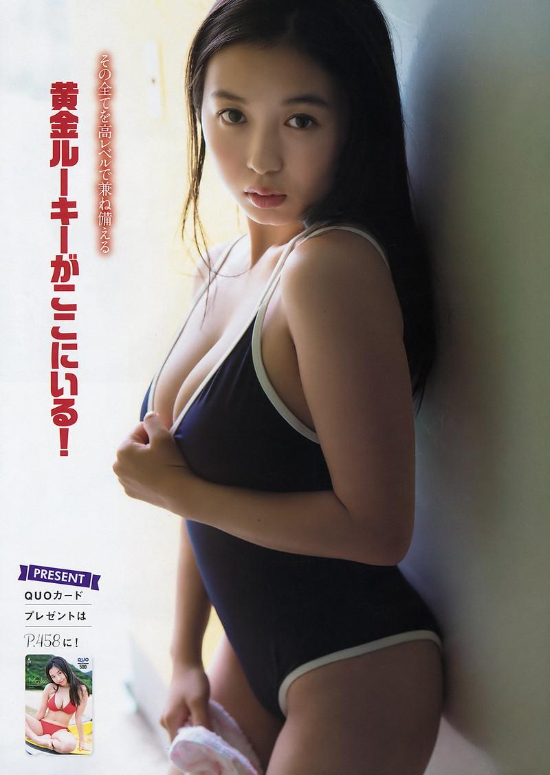 【舞子グラビア画像】今年女子大生になったHカップ爆乳ボディの和風顔グラドル 27