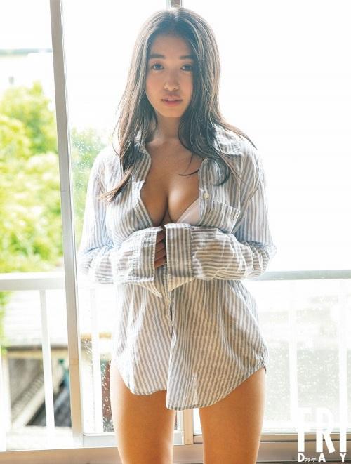【舞子グラビア画像】今年女子大生になったHカップ爆乳ボディの和風顔グラドル 62