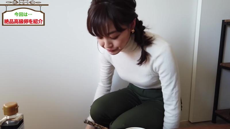 【新井恵理那キャプ画像】人気アラサー女子アナのニット越しおっぱい! 15