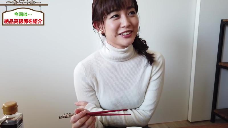 【新井恵理那キャプ画像】人気アラサー女子アナのニット越しおっぱい! 22