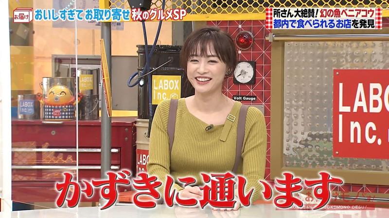 【新井恵理那キャプ画像】人気アラサー女子アナのニット越しおっぱい! 47