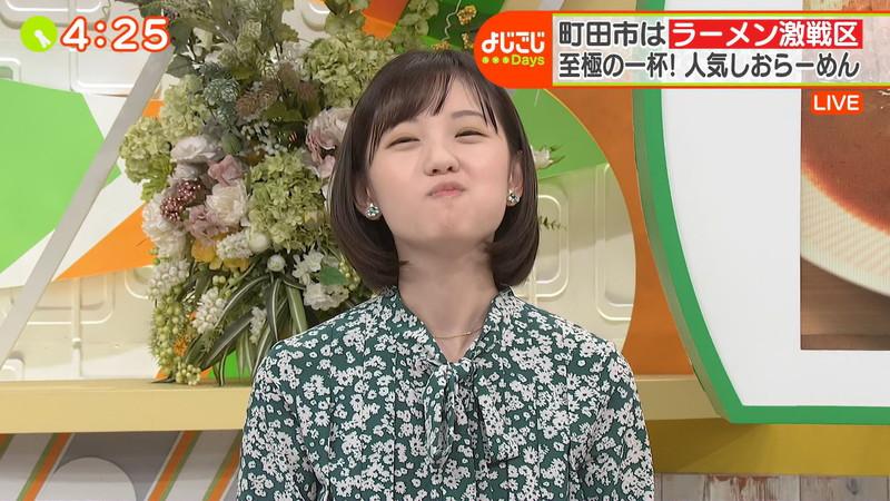 【田中瞳キャプ画像】ミスコン経験がある可愛い女子アナが大口開けて食レポwwww 35