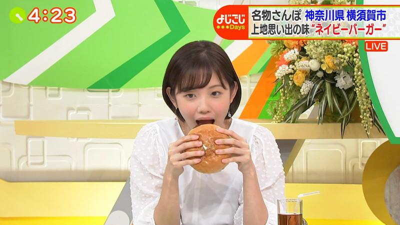 【田中瞳キャプ画像】ミスコン経験がある可愛い女子アナが大口開けて食レポwwww 77
