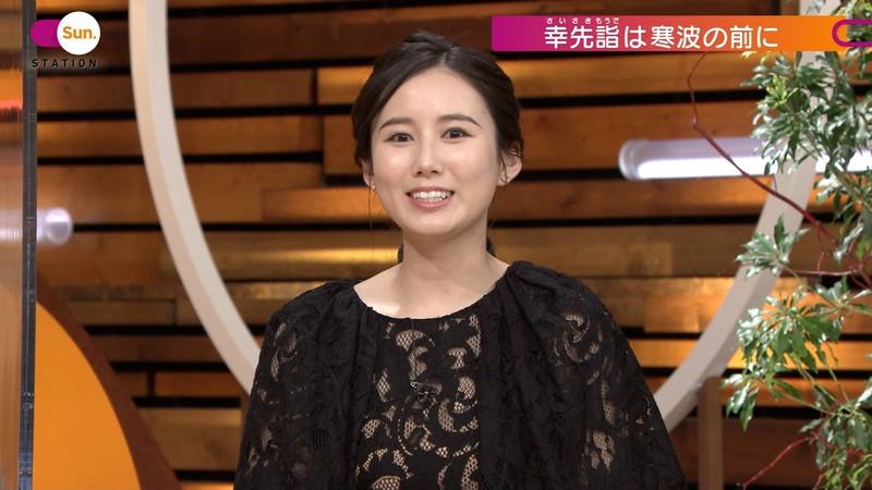 【森川夕貴キャプ画像】疑似フェラ以外にスケスケ衣装まで着てる女子アナwwww 50