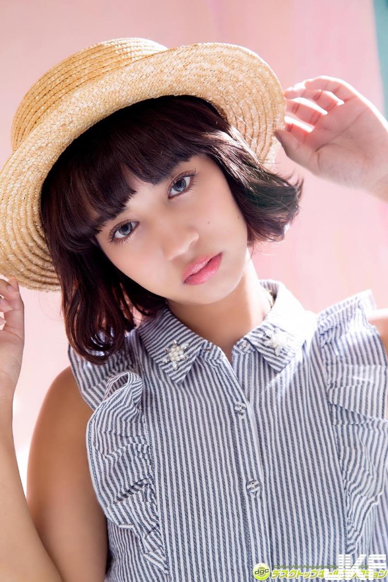 【牧野紗弓エロ画像】Fカップ巨乳のモデル系ボディが激エロいハーフ美少女 03