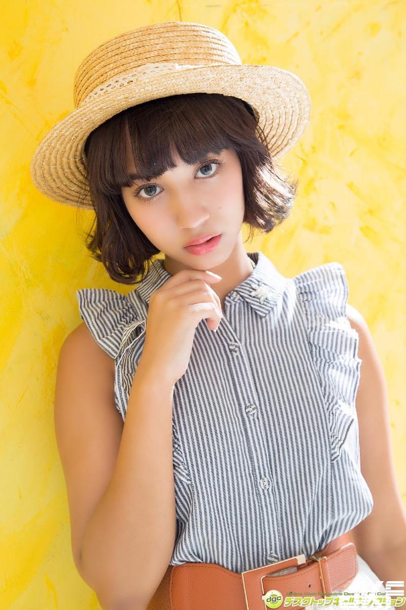 【牧野紗弓エロ画像】Fカップ巨乳のモデル系ボディが激エロいハーフ美少女 05