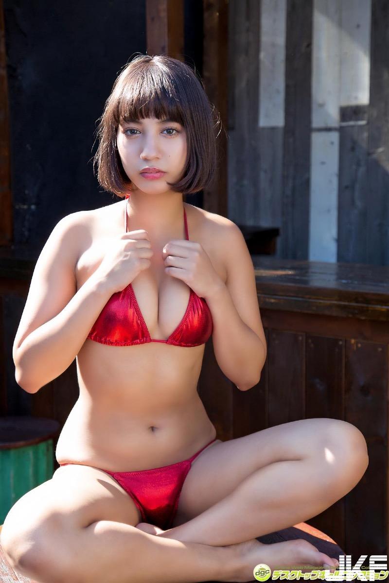 【牧野紗弓エロ画像】Fカップ巨乳のモデル系ボディが激エロいハーフ美少女 28