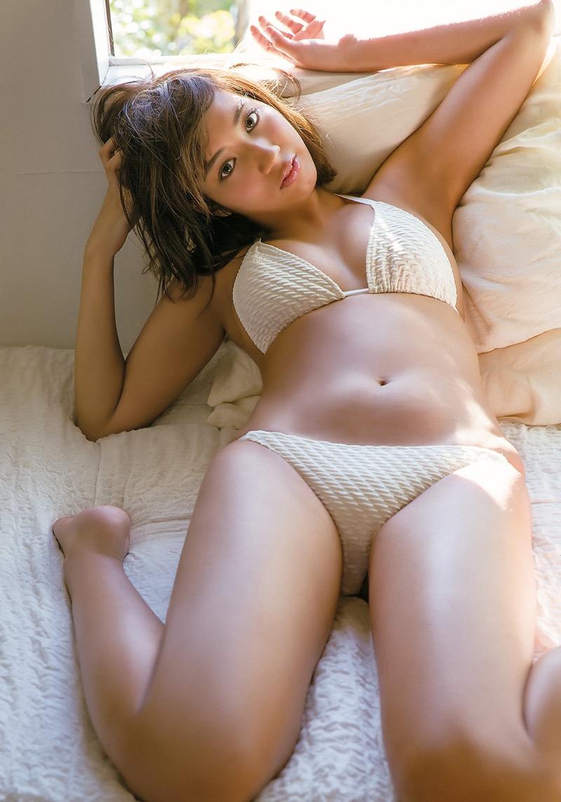 【牧野紗弓エロ画像】Fカップ巨乳のモデル系ボディが激エロいハーフ美少女 41