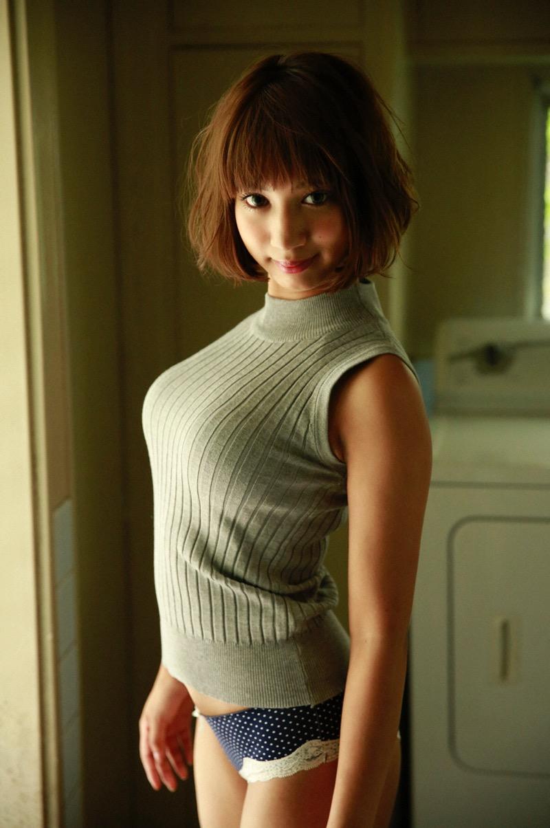 【牧野紗弓エロ画像】Fカップ巨乳のモデル系ボディが激エロいハーフ美少女 58