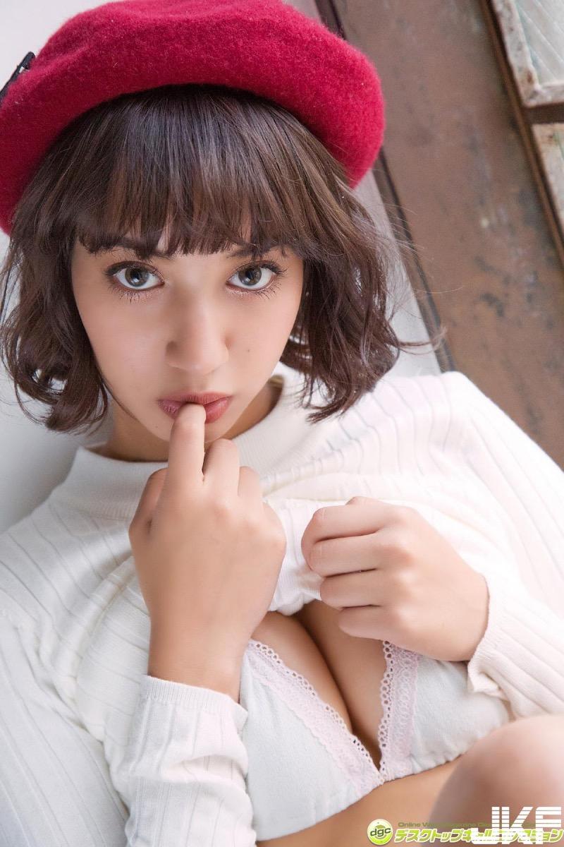 【牧野紗弓エロ画像】Fカップ巨乳のモデル系ボディが激エロいハーフ美少女 61