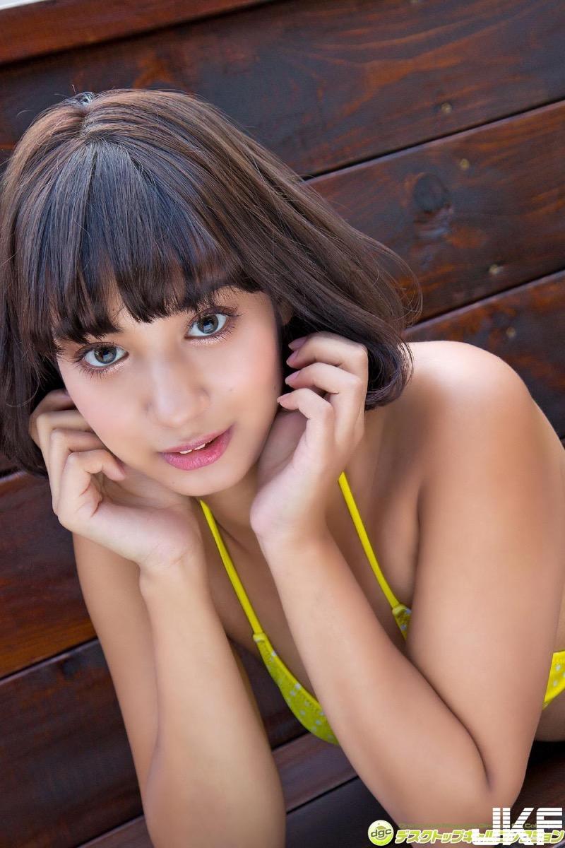 【牧野紗弓エロ画像】Fカップ巨乳のモデル系ボディが激エロいハーフ美少女 77