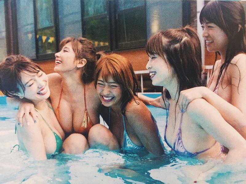 【リップガールズエロ画像】メンバー全員Gカップ以上って巨乳ハーレムじゃん! 48