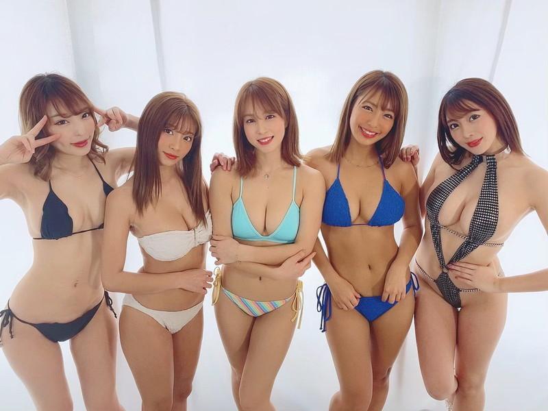 【リップガールズエロ画像】メンバー全員Gカップ以上って巨乳ハーレムじゃん! 75