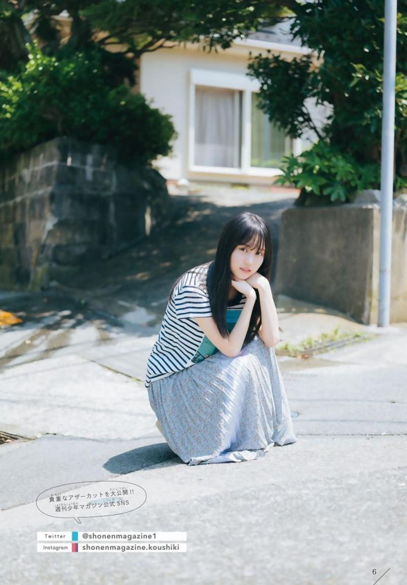 【賀喜遥香グラビア画像】太めの眉が純朴美少女って感じがして可愛い! 55