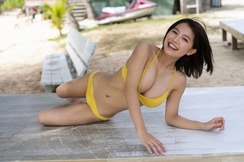 【寺本莉緒キャプ画像】グラビア新人賞を獲って今乗りにノってる巨乳美少女 46