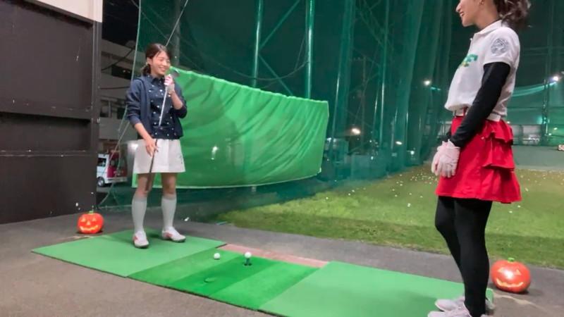 【女子アナキャプ画像】ゴルフでスカートひらひらさせてパンチラ寸前!? 10