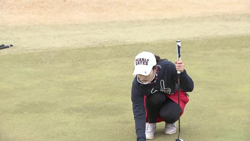 【女子アナキャプ画像】ゴルフでスカートひらひらさせてパンチラ寸前!? 18