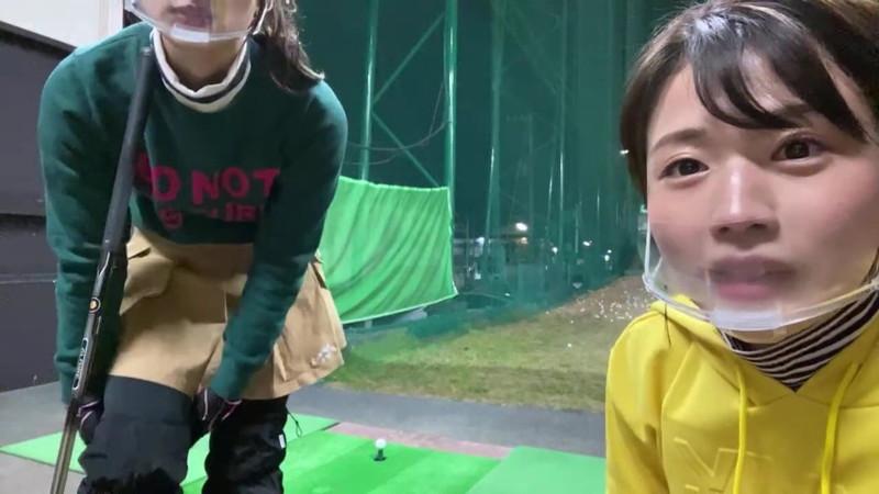【女子アナキャプ画像】ゴルフでスカートひらひらさせてパンチラ寸前!? 41