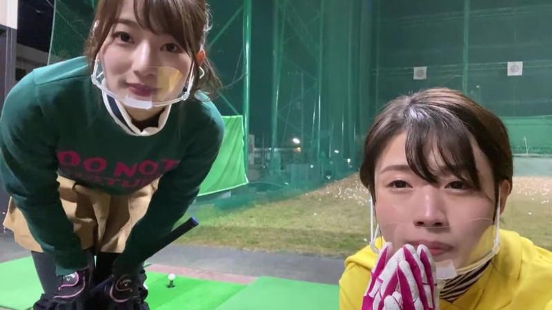 【女子アナキャプ画像】ゴルフでスカートひらひらさせてパンチラ寸前!? 49