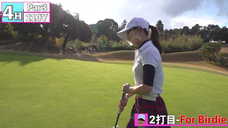 【女子アナキャプ画像】ゴルフでスカートひらひらさせてパンチラ寸前!? 56