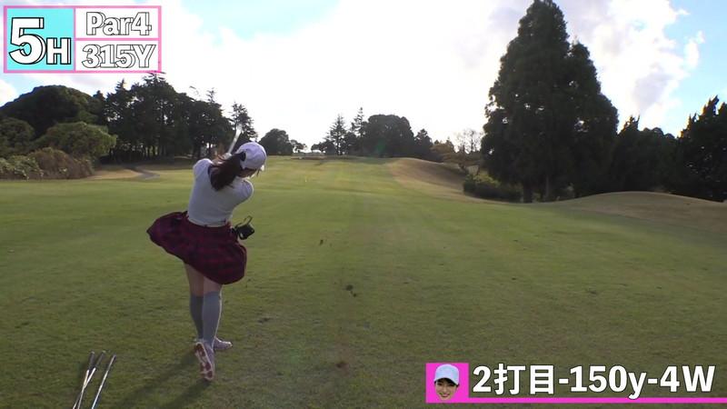 【女子アナキャプ画像】ゴルフでスカートひらひらさせてパンチラ寸前!? 64