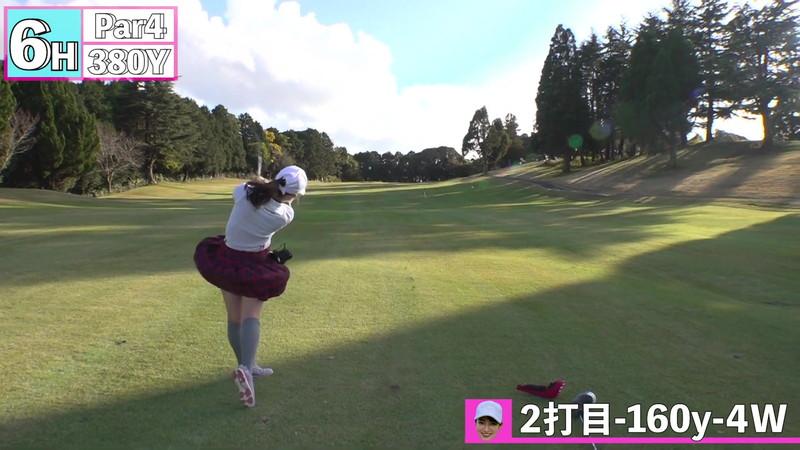 【女子アナキャプ画像】ゴルフでスカートひらひらさせてパンチラ寸前!? 68