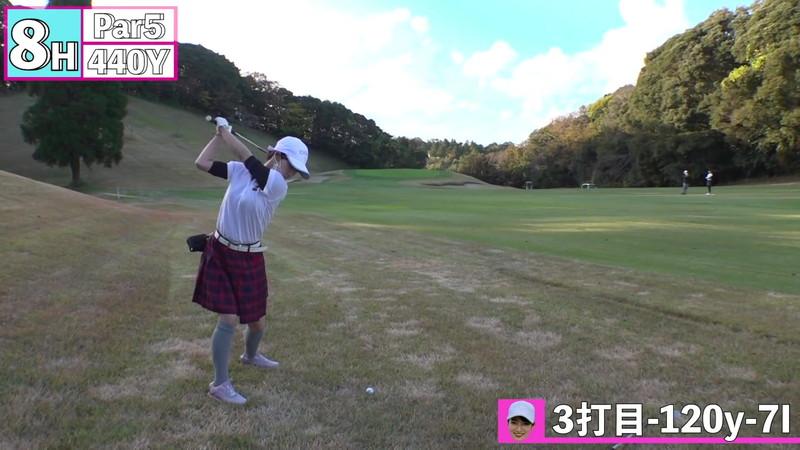 【女子アナキャプ画像】ゴルフでスカートひらひらさせてパンチラ寸前!? 80