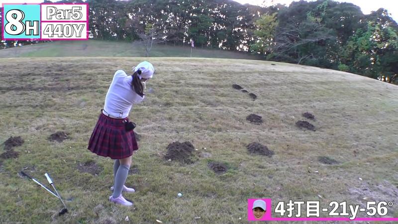 【女子アナキャプ画像】ゴルフでスカートひらひらさせてパンチラ寸前!? 82
