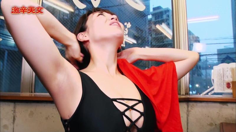 【園都キャプ画像】サウナ好きグラドルの汗かき激辛チャレンジと入浴シーン 11