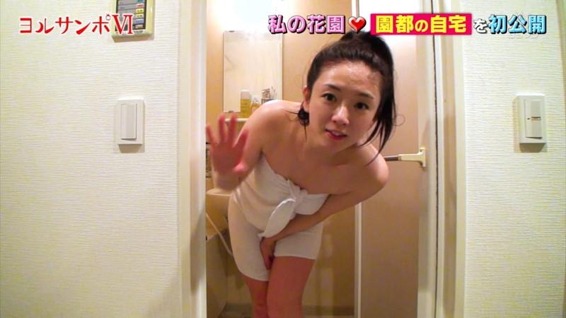 【園都キャプ画像】サウナ好きグラドルの汗かき激辛チャレンジと入浴シーン 53